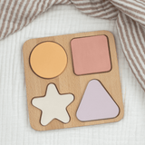 Wooden Painted Shape Puzzle