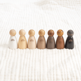 Inclusive Rainbow Peg Doll Set