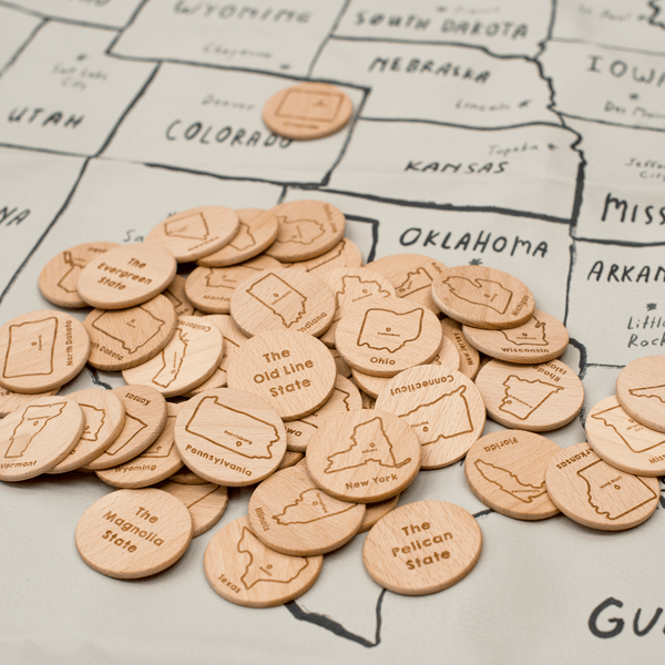 Wooden USA State Coins (to match Gathre mats!)