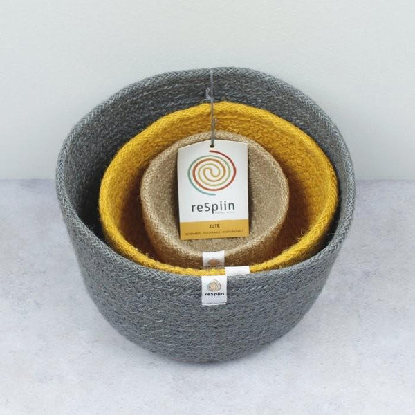 Tall Jute Bowl Set (Beach)