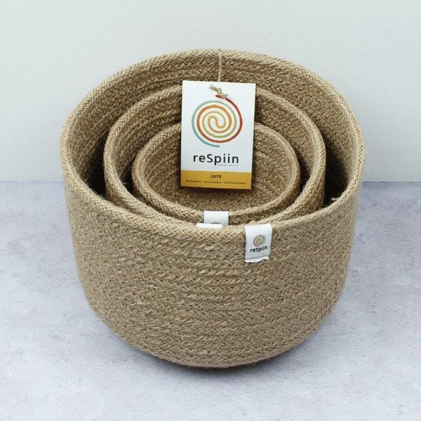 Tall Jute Bowl Set (Natural)