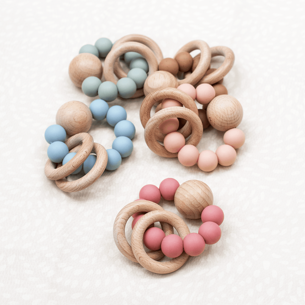 Saturn Teether - Silicone + Wood