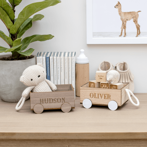 Personalised Mini Wooden Wagon