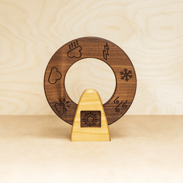 Wooden Weather Wheel (Walnut)