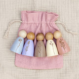 Wildflower Peg Dolls Set (Part II)