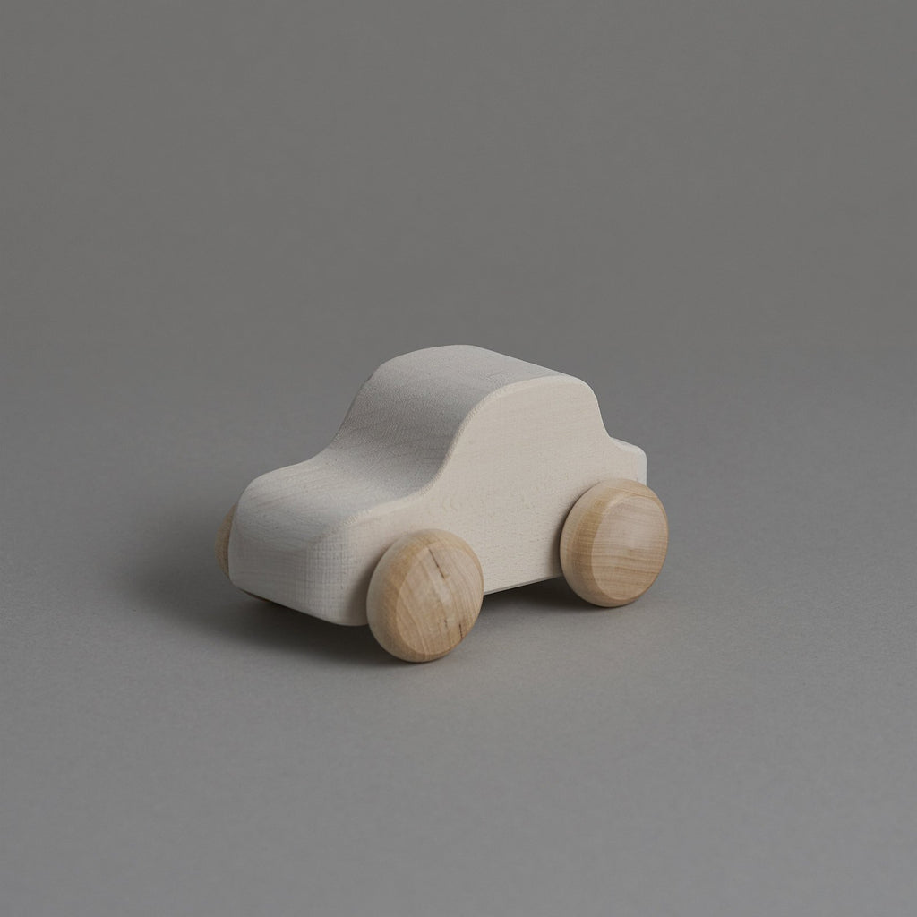 White Wooden Car