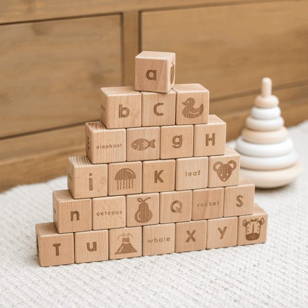 Wooden Alphabet Block Set