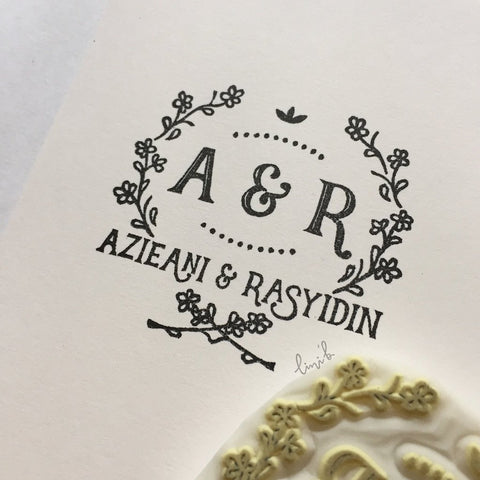 Wedding Stamp (Initials and Couple Names)