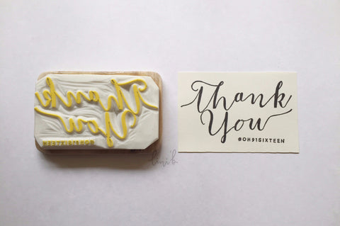 """Thank You with #hashtag"" stamp"