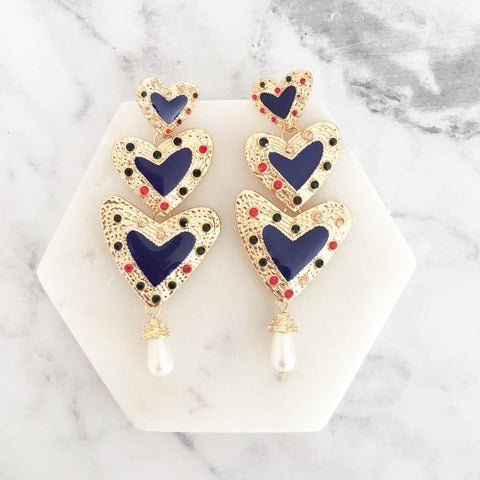 Valentina Earrings - Blue