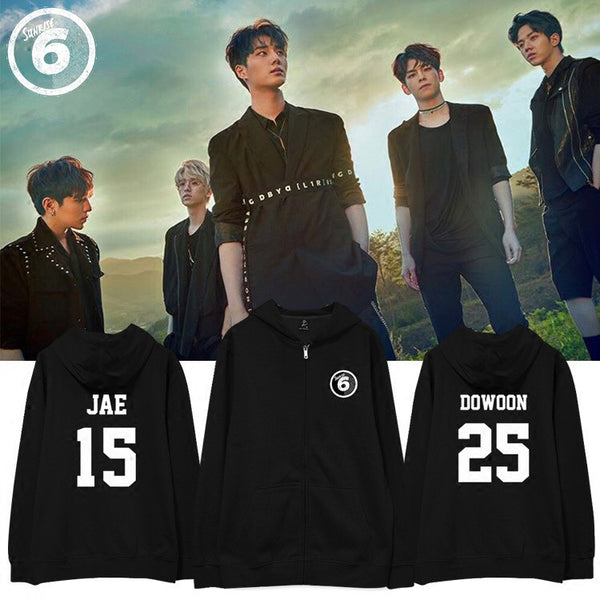 DAY6 SUNRISE MEMBER ZIP UP HOODIES