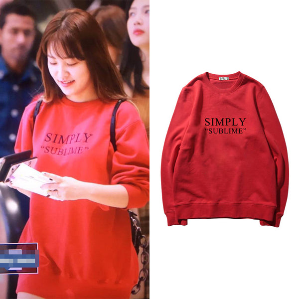 RED VELVET YERI SIMPLY SUBLIME SWEATER