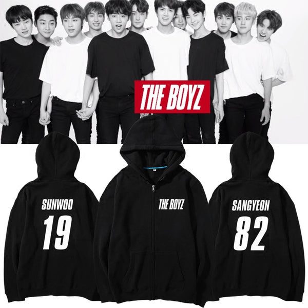 THE BOYZ DEBUT MEMBER NAME ZIP UP HOODIES