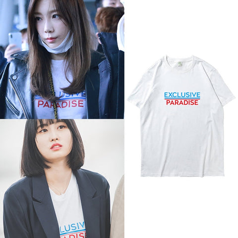 SNSD TAEYEON TWICE MOMO EXCLUSIVE PARADISE T-SHIRT
