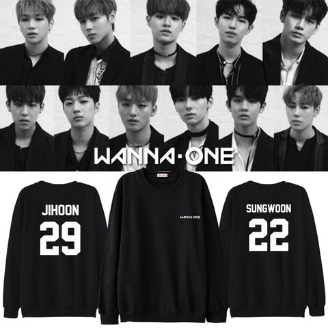WANNA ONE DEBUT MEMBER SWEATER
