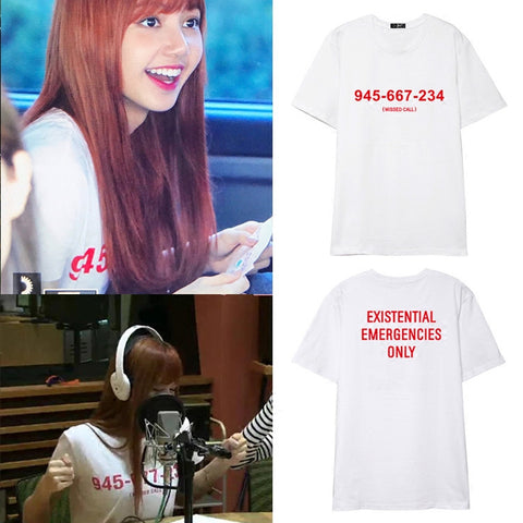 BLACKPINK LISA MISSED CALL T-SHIRT