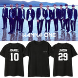 WANNA ONE MEMBER NUMBER T-SHIRT