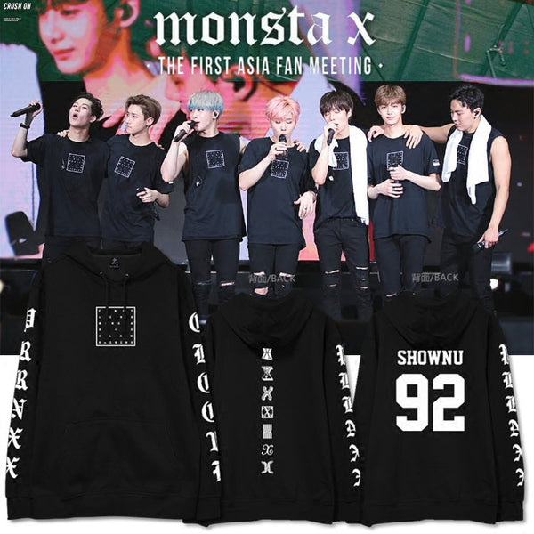 MONSTA X FIRST ASIA FANMEET MEMBER HOODIES