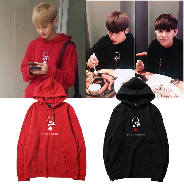 WANNA ONE DAEHWI WOOJIN ROSE HOODIE