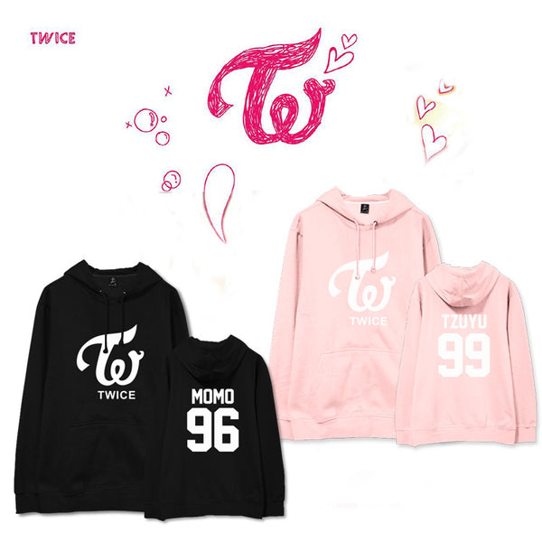 TWICE THE STORY BEGINS MEMBERS NAME NUMBER HOODIE