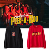RED VELVET PEEK-A-BOO SWEATER