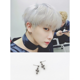 MONSTA X WONHO CROSS EARRING