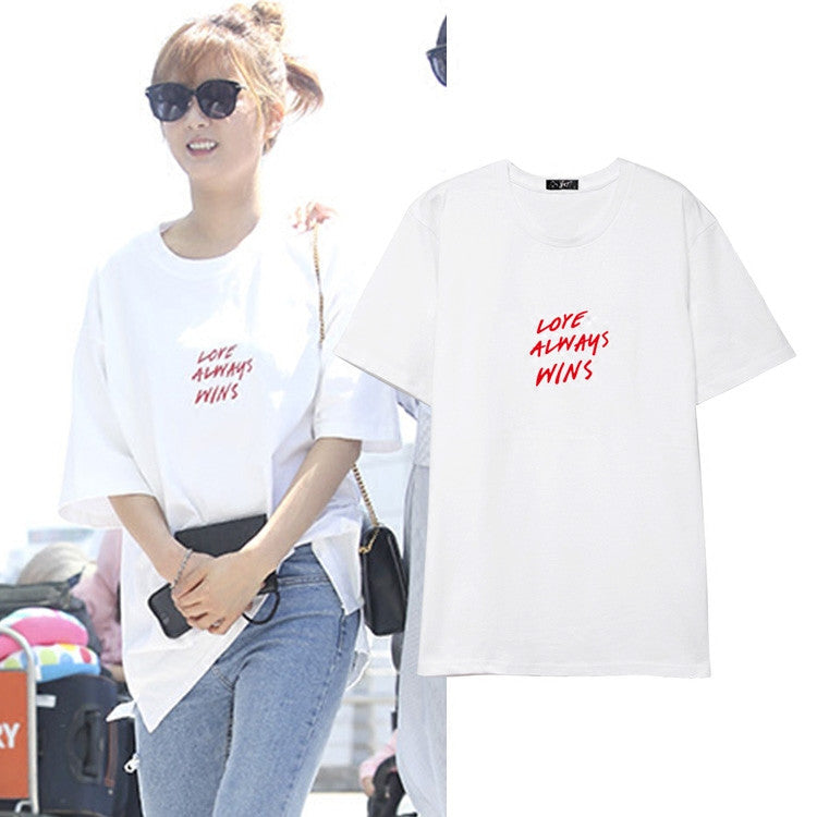 Apink Bomi Love Always Wins T Shirt Idols Fashion