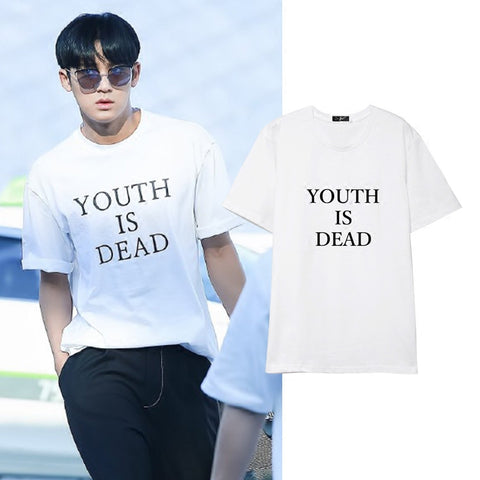 SEVENTEEN MINGYU YOUTH IS DEAD T-SHIRT