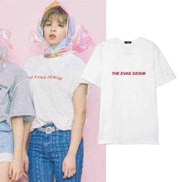 TWICE JUNGYEON THE EVAN DENIM T-SHIRT