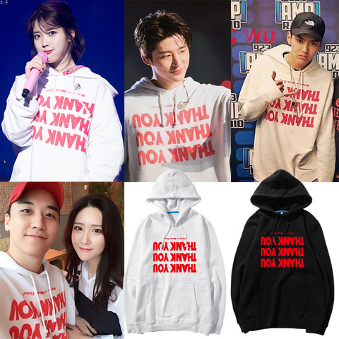 IU BIG BANG SEUNGRI IKON BI THANK YOU HOODIE