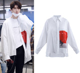 NINE PERCENT CHENG CHENG ADD BUTTON UP SHIRT