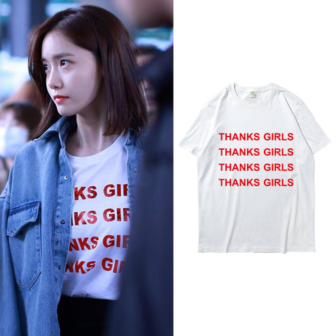 SNSD YOONA THANKS GIRLS T-SHIRT