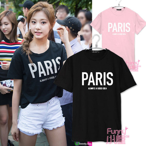 TWICE TZUYU PARIS ALWAYS A GOOD IDEA T-SHIRT