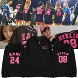 EXID MEMBERS NUMBER ZIP UP HOODIES