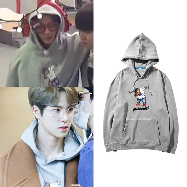 WANNA ONE JINYOUNG JBJ DONGHAN HIJACKING HOODIE