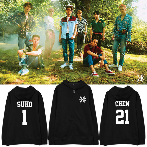 EXO THE WAR ZIP UP HOODIE