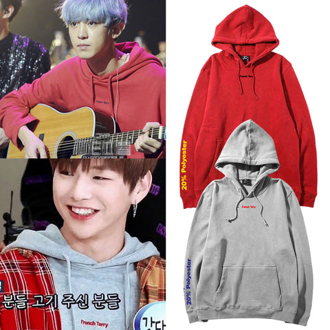 EXO CHANYEOL WANNA ONE DANIEL FRENCH TERRY HOODIE