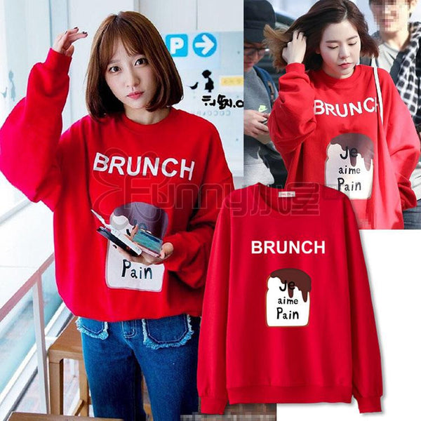EXID HANI SNSD SUNNY BRUNCH SWEATER - IDOLS FASHION
