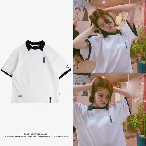 AFTER SCHOOL LIZZY ROMANTIC CROWN POLO SHIRT