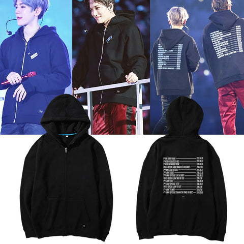EXO 2017 DATES ZIP UP HOODIE