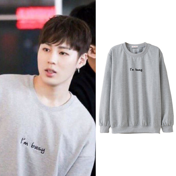 WANNA ONE SUNGWOON I'M BUSY SWEATER