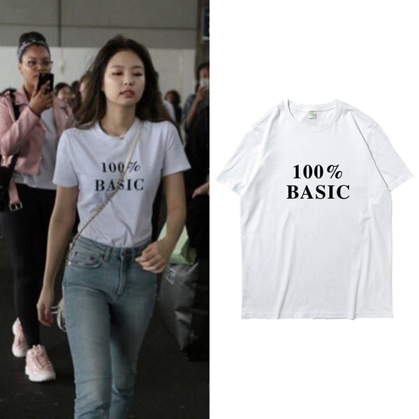BLACKPINK JENNIE 100% BASIC T-SHIRT