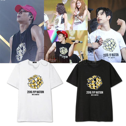GOT7 TWICE 2PM 2016 JYP NATION T-SHIRT