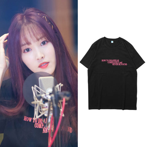 GFRIEND YUJU HOW TO DISAPPEAR COMPLETELY T-SHIRT