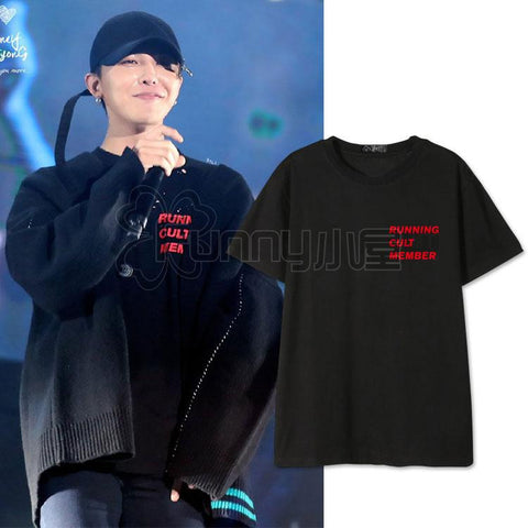 BIG BANG G-DRAGON RUNNING CULT MEMBER T-SHIRT - IDOLS FASHION
