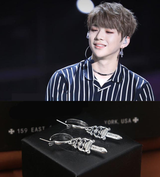 WANNA ONE DANIEL CHROME EARRING