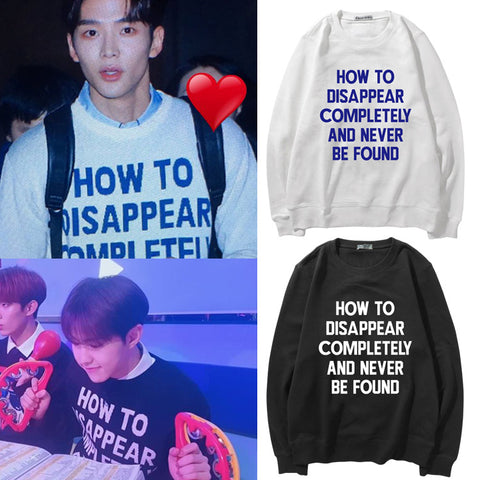 SEVENTEEN HOSHI SF9 ROWOON HOW TO DISAPPEAR COMPLETELY SWEATER