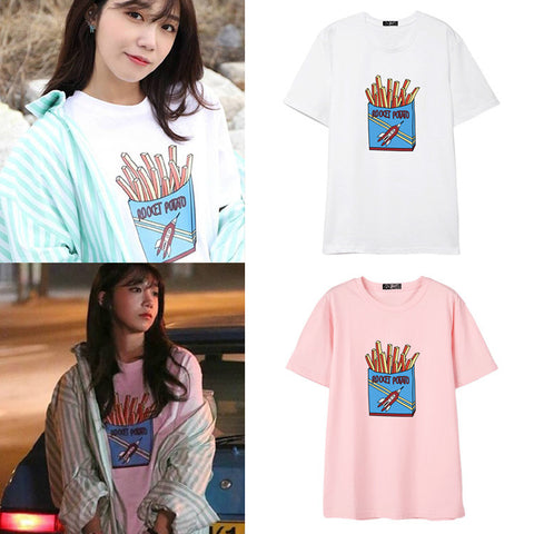 APINK EUNJI FRENCH FRIES T-SHIRT