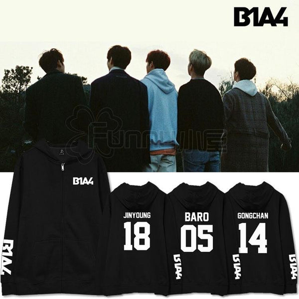 B1A4 MEMBER ZIP UP HOODIES