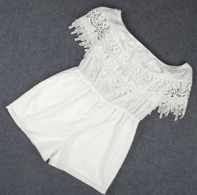 FASHION OFF SHOULDER LACE ROMPER